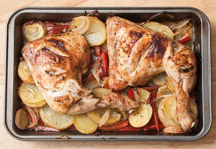 recipe for baked chicken thighs with potatoes